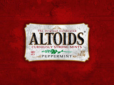 Bordeaux Digital Art - Altoids Peppermint Scratches by Raphael Campelo
