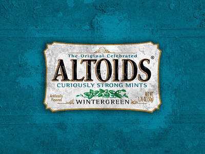 Bordeaux Digital Art - Altoids Wintergreen Scratches by Raphael Campelo
