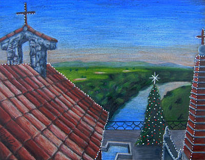 Painting - Feliz Navidad De Altos De Chavon by Mark Lopez