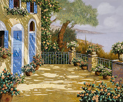 Lakescape Painting - Altre Porte Blu by Guido Borelli