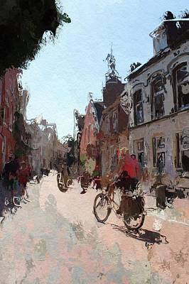 Old Street Mixed Media - Altstadt Leer by Steve K