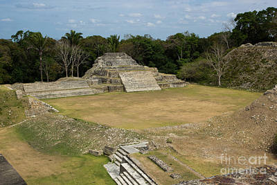 Photograph - Altun Ha Plaza From Top Of Pyramid by Suzanne Luft