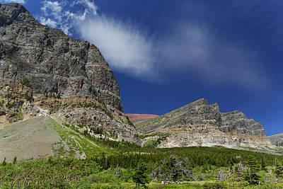 Kathleen Photograph - Altyn Peak And Apikuni Mountain by Kathleen Bishop