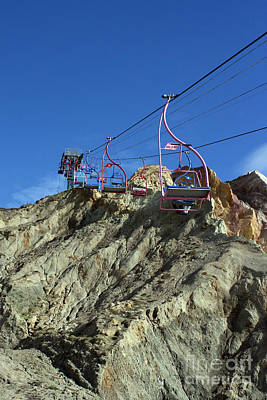 Photograph - Alum Bay Chair Lift by Terri Waters