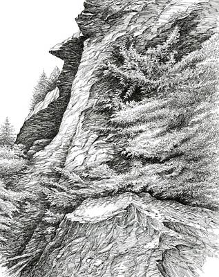 Alum Bluff Trail Crag Print by Bob  George