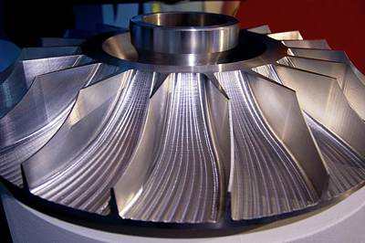 Milling Machine Photograph - Aluminium Impeller Fan by Mark Williamson
