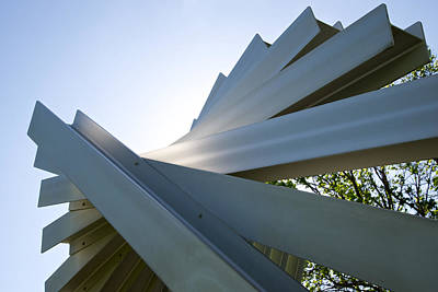 Photograph - Aluminum Sculpture Detail by Mary Lee Dereske
