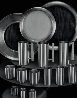 Stein Photograph - Aluminum Tableware by Martinus Andersen