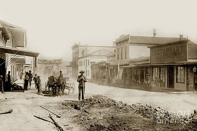 Photograph - Alvarado Street - Monterey California 1887 by California Views Archives Mr Pat Hathaway Archives