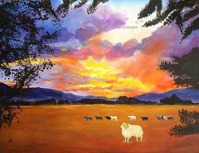 Alvin Counting Sheep Art Print