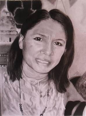Drawing - Alvita Batres by Luis Carlos A