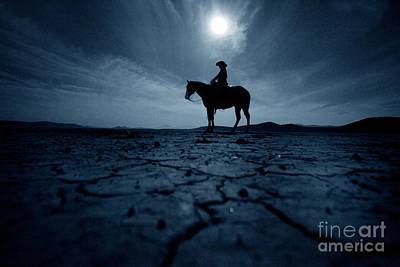 Buckaroo Photograph - Alvord Desert Full Moon by Michele AnneLouise Cohen