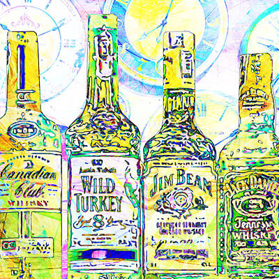 Always Carry A Bottle Of Whiskey In Case Of Snakebite 20140917 V2 Square Art Print by Wingsdomain Art and Photography