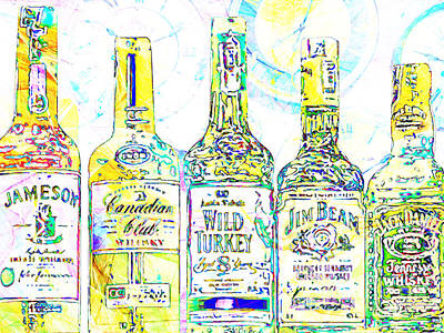 Always Carry A Bottle Of Whiskey In Case Of Snakebite 20140917 V2 Art Print by Wingsdomain Art and Photography