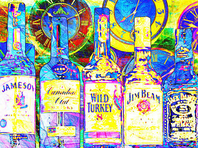 Wild Turkey Digital Art - Always Carry A Bottle Of Whiskey In Case Of Snakebite 20140917 V3 by Wingsdomain Art and Photography