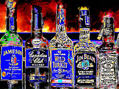 Always Carry A Bottle Of Whiskey In Case Of Snakebite 20140917 V5 Art Print by Wingsdomain Art and Photography