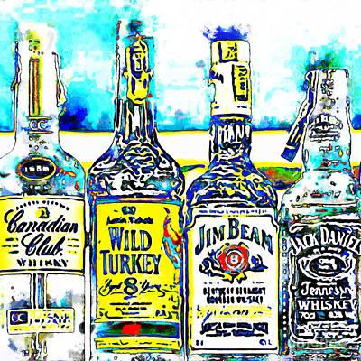 Always Carry A Bottle Of Whiskey In Case Of Snakebite 20140917 V6 Square Art Print