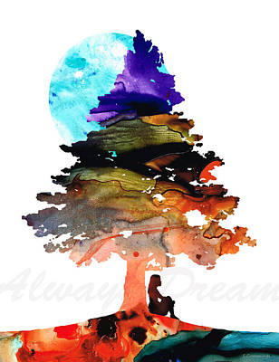 Always Dream - Inspirational Art By Sharon Cummings Art Print by Sharon Cummings