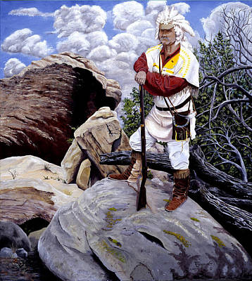 Mountain Man Painting - Always Exploring by Timithy L Gordon