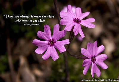 Always Flowers Art Print by Marilyn Carlyle Greiner