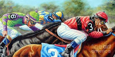 Belmont Stakes Painting - Always Getting Ahead Of Myself by Tom Chapman
