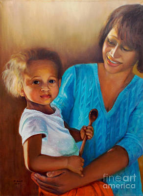 Painting - Always In Her Heart And In Her Hands by Marlene Book