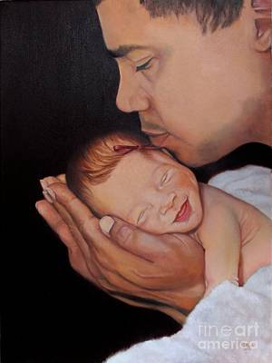 Painting - Always In His Heart And In His Hands by Marlene Book