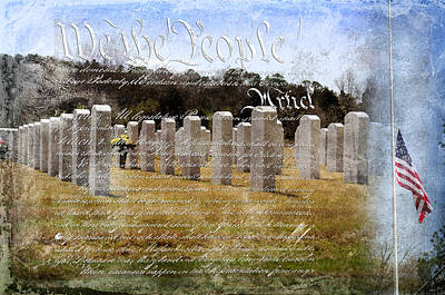 Soldiers National Cemetery Digital Art - Always Remember by Davina Washington