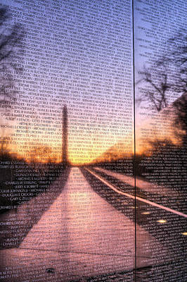 Vietnam Veterans Memorial Wall Photograph - Always Remembered  by JC Findley
