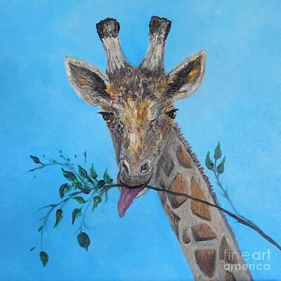 Always Stand Tall-giraffe Original by Rhonda Lee