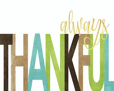 Always Thankful Art Print by Alli Rogosich