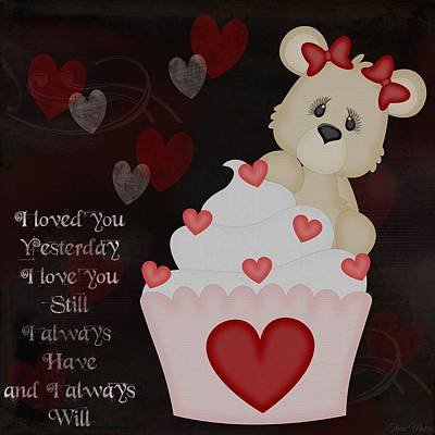 Cupcake Love Digital Art - Always Will by Tricia Moore
