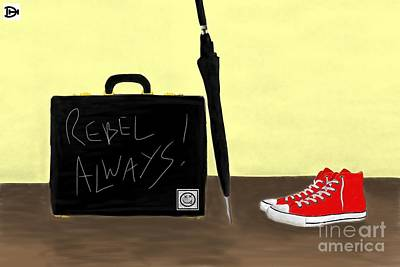 Always...rebel.... Art Print by Andy Heavens