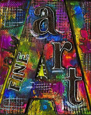 Mixed Media - alwfineART by Angela L Walker