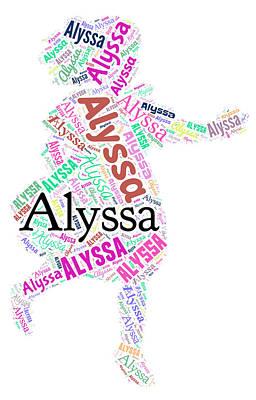 Alyssa Painting - Alyssa by Bruce Nutting