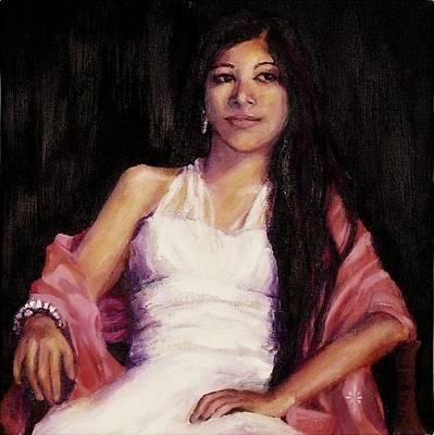 Painting - Alyssa by Jodie Marie Anne Richardson Traugott          aka jm-ART