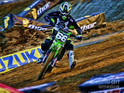 Photograph - Ama 250 Supercross Chris Alldredge by Blake Richards