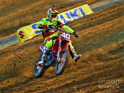 Photograph - Ama 250 Supercross Shane Mcelerath  by Blake Richards