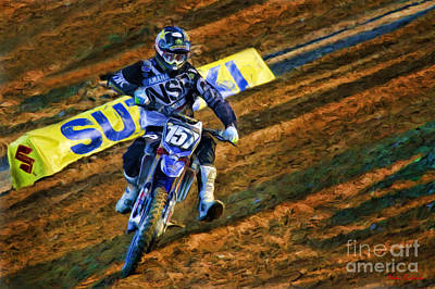 Photograph - Ama 250sx Supercross Aaron Plessinger by Blake Richards