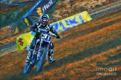 Photograph - Ama 250sx Supercross Alex Martin  by Blake Richards