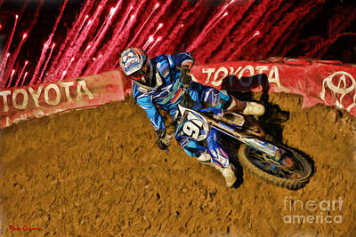 Photograph - Ama 250sx Supercross Chris Howell by Blake Richards