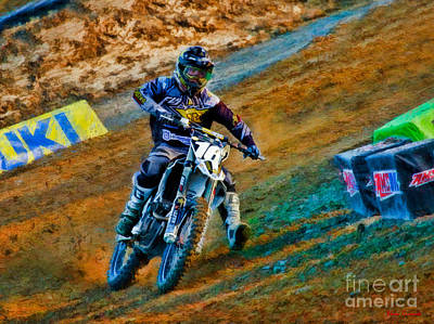 Photograph - Ama 250sx Supercross Zach Osborne  by Blake Richards