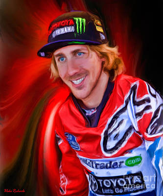 Photograph - Ama 450 Supercross Justin Barcia by Blake Richards