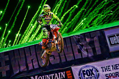 Photograph - Ama 450sx Supercross Andrew Short by Blake Richards