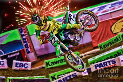 Photograph - Ama 450sx Supercross Chad Reed by Blake Richards