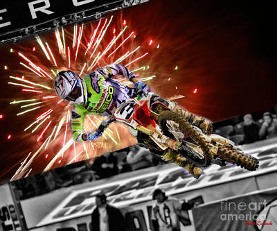 Photograph - Ama 450sx Supercross Eli Tomac by Blake Richards