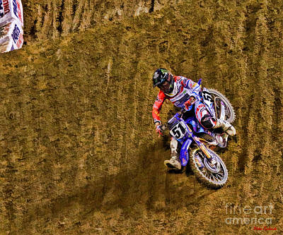 Photograph - Ama 450sx Supercross Justin Barcia by Blake Richards