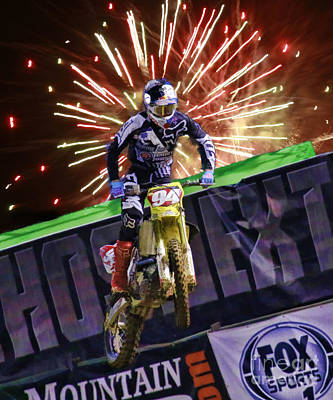 Photograph - Ama 450sx Supercross Ken Roczen by Blake Richards