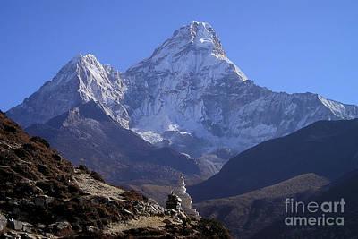Photograph - Ama Dablam Nepal by Jan Wolf