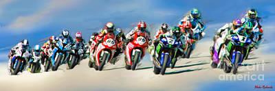 Photograph - Ama Superbike Grid by Blake Richards